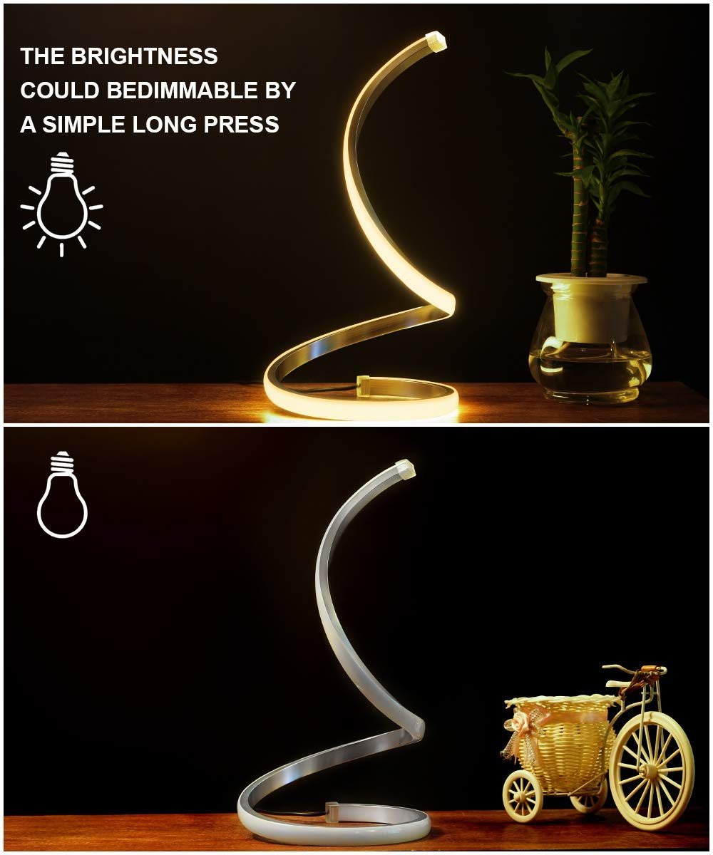 Spiral LED Table Lamp