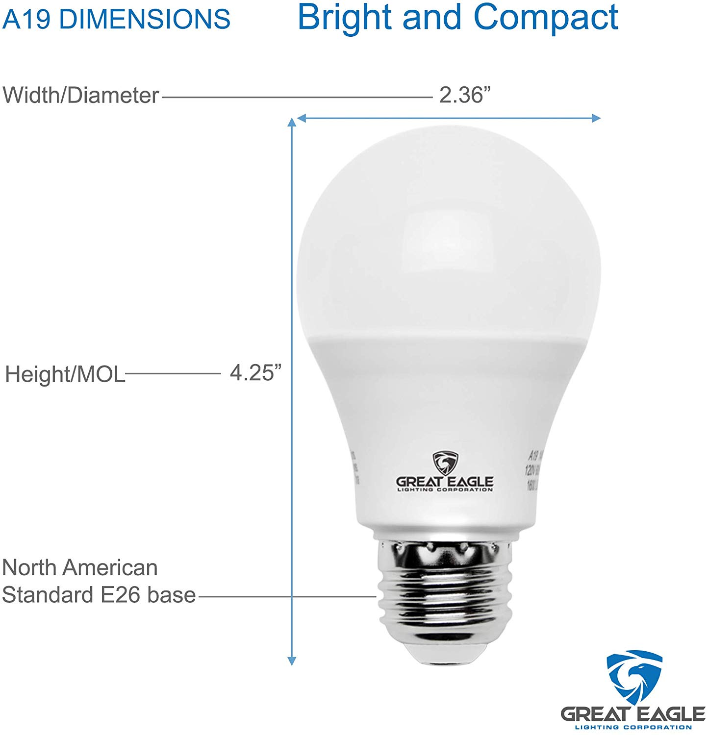 Great Eagle A19 LED Light Bulb