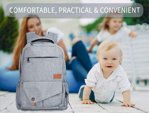 Backpack Diaper Bag for Baby by ToteNvy-Large Multi Functional