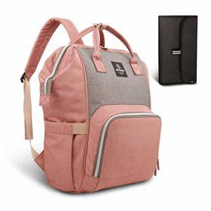 pink baby bag