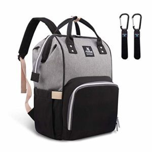 grey nappy bag