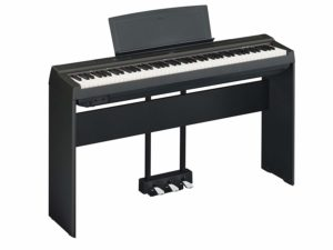 Yamaha P125 Digital Piano Deluxe Bundle with Furniture Stand and 3-Pedal Unit