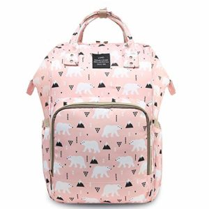 pink diaper backpack by halova