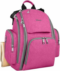 pink nappy bag