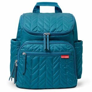 teal diaper bag