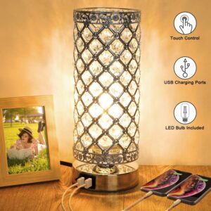 Crystal Touch Control Table Lamp