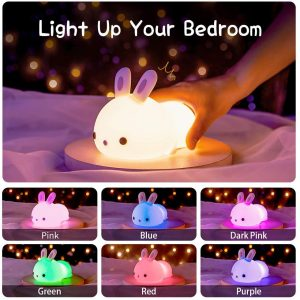 Cute Bunny Kids Night Light