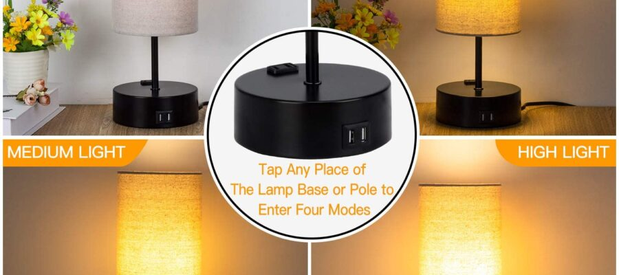Dimmable Touch Table Lamp