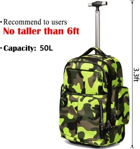HollyHOME Travel Wheeled Rolling Backpack