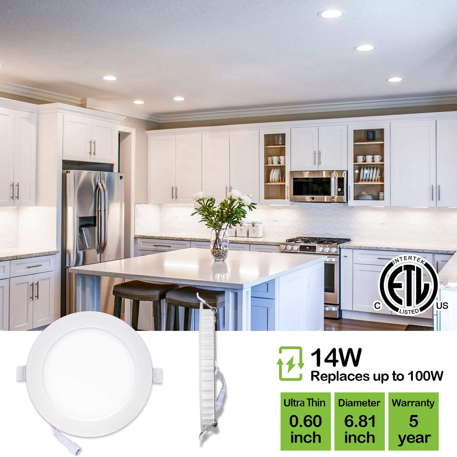Hyperikon 4 Inch LED recessed lighting