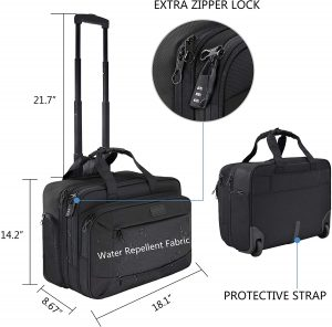 KROSER Rolling Laptop Briefcase