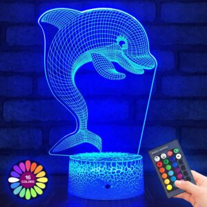 Menzee Dolphin 3D Night Light for Kids