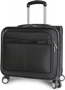 Perry Ellis 8-Wheel Spinner Rolling Office Bag