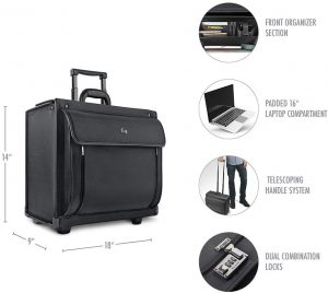 Solo Classic Collection 16 Inch Laptop Rolling Work Bag