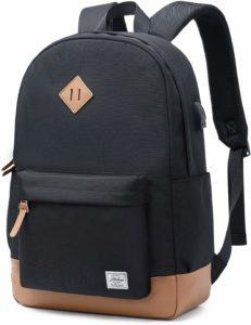 Abshoo Classical Black Water Resistant Backpack