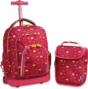 J World Lollipop Kids Rolling Backpack