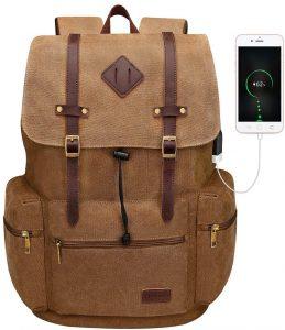 Modoker Canvas Laptop Rucksack Backpack