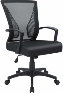 Furmax Office Mid Back Swivel Lumbar Support Desk