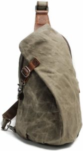 waxed canvas sling bags