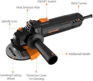meterk electric angle grinder