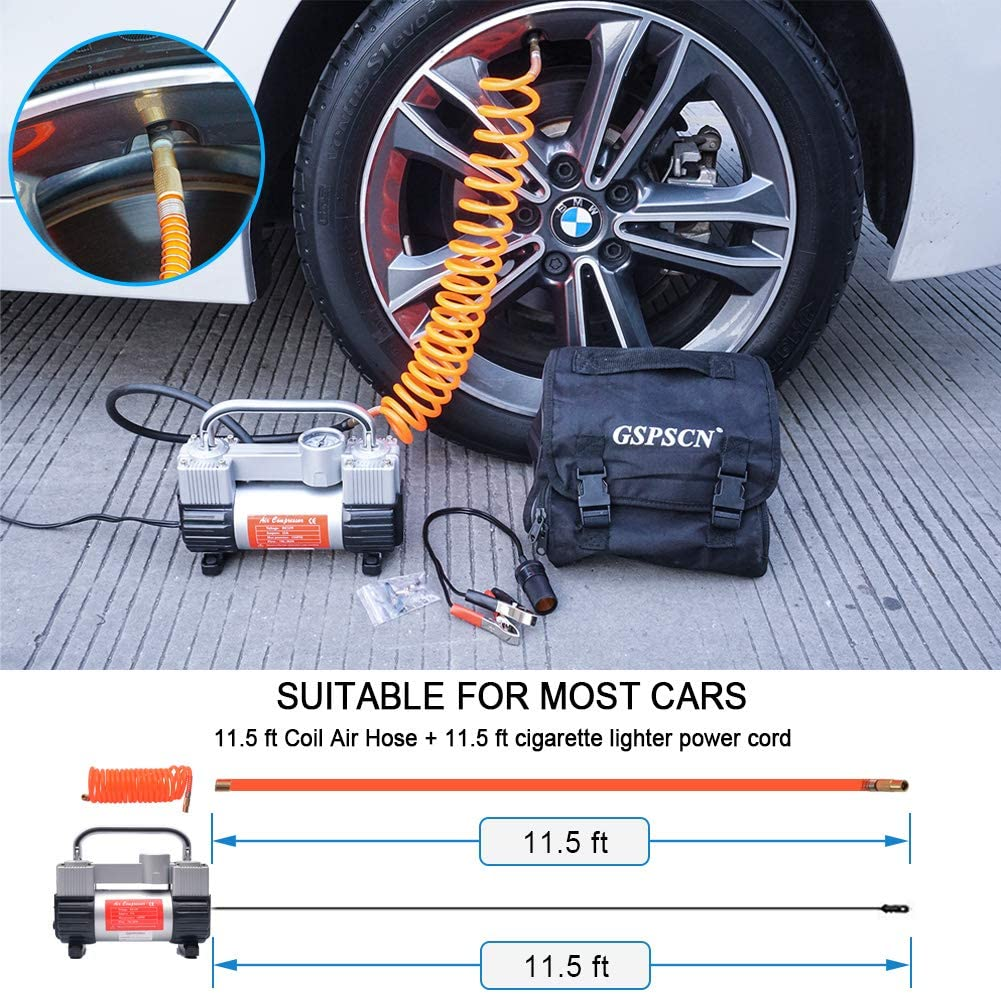 portable air compressor for truck tires