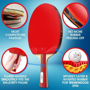nibiru sport ping pong paddle set