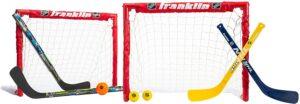 franklin sports kids folding hockey goal set