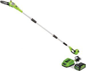 greenworks 8.5 40v cordless pole saw