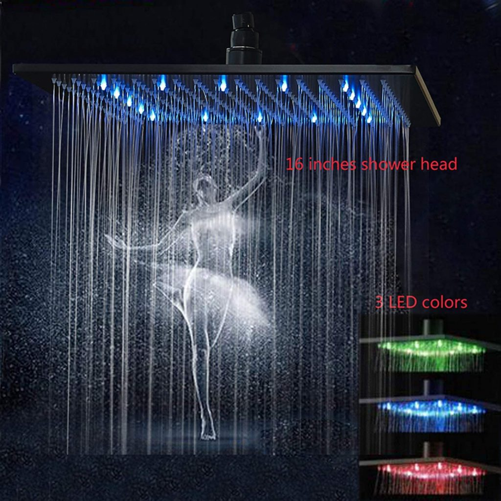 16 inch rainfall shower head