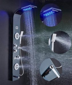 stainless steel led shower head