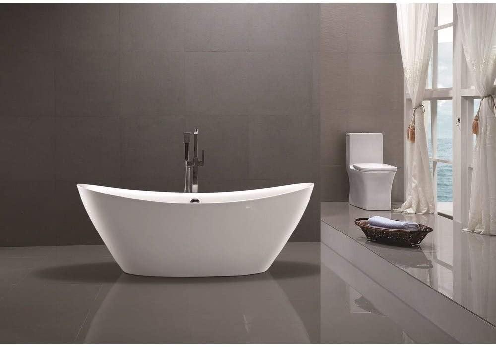 vanity art freestanding acrylic bathtub