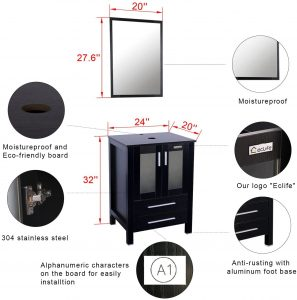 24 inch modern bathroom vanity