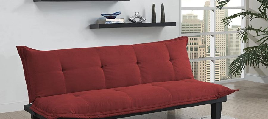 DHP Lodge Convertible Futon Couch Bed