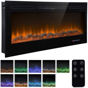 Homedex 50 Recessed Electric Fireplace