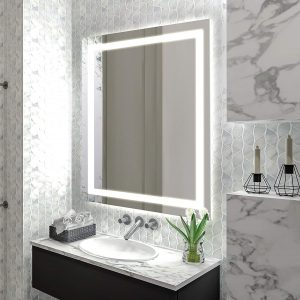 homewerks white led bathroom mirror