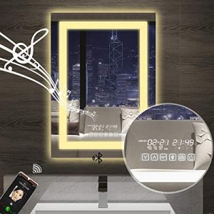 vertical led bathroom mirror