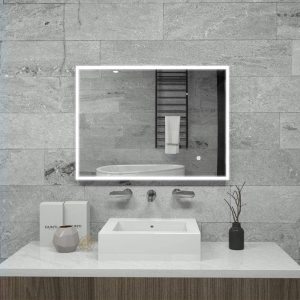 wall mounted led bathroom mirror