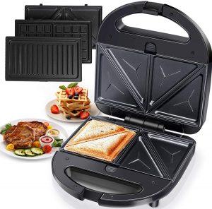 Aigostar 3-in-1 Grilled Sandwich Maker