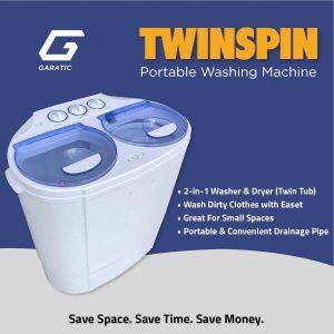 Garatic Portable Compact Mini Twin Tub Washing Machine