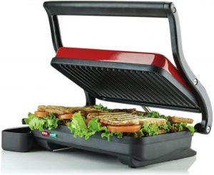 Ovente Electric Countertop Panini Press Grill