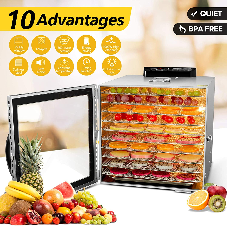 VVinRC Commercial Food Dehydrator