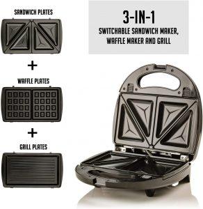 ovente 3-in-1 electric sandwich maker
