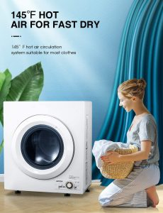 AICOOK 1400W Compact Laundry Dryer