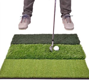 GoSports Tri-Turf XL Golf Practice Hitting Mat